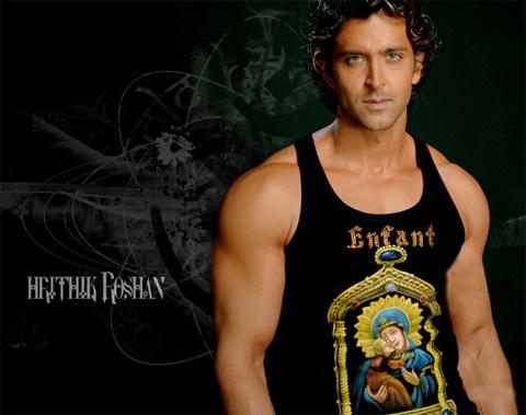 Fotografia de Hrithik Roshan - actor de cine de Bollywood