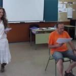 Raquel Caballero Interprentando a La Posadera junto a Jaume Notxa