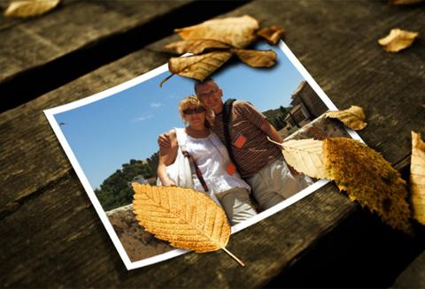 Fotografía de Gloria Fernández junto a su pareja