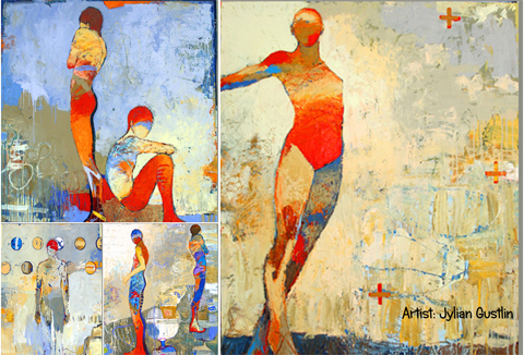 Pinturas de mujeres realizadas por Jylian Gustlin