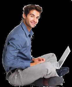hombre ordenador